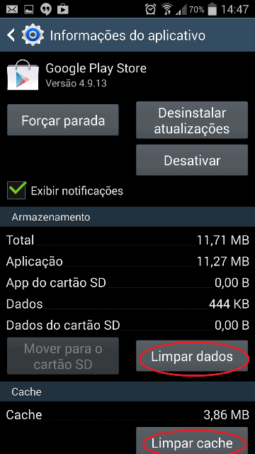 Como limpar o cache do Google Play  Store 3